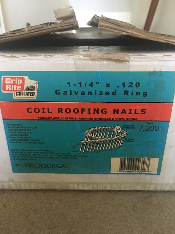 Coil roofing nails 247a0bbb-21e7-4506-9e5d-ded175dfb42e