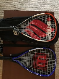 black and red tennis rackets with case ARLINGTON