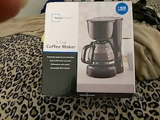 Mainstays 5-cup coffee maker box