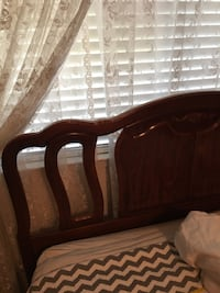 Queen beds, headboard, mattresses, stand , great condition