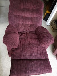 2 Red Recliner Rocking Chairs