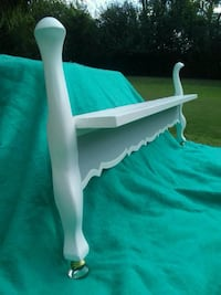 Repurposed bed footboard