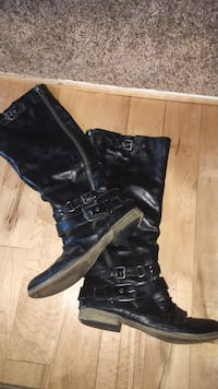 Leather boots  size 8 Sterling, 20165