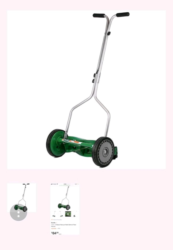 Used 14 in. 5-Blade Manual Walk Behind Reel Mower for sale