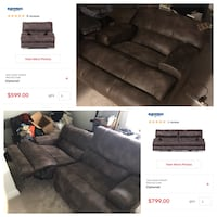 Never used power reclining sofa / couch and recliner Severn