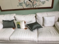 White couch, love seat and chair Richmond Hill