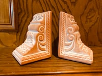 VINTAGE | Terracotta Rose & Bow Bookends