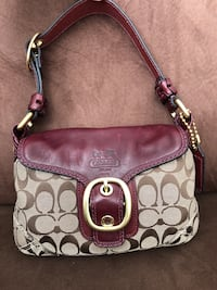Brown and burgundy Coach hand bag Vaughan, L6A 4A5
