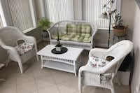 Wicker furniture set-two chairs, loveseat and table Fairfax, 22033