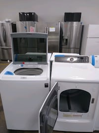 Top load washer and dryer set sumsung