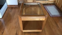 Wood end table with glass  Byrdstown, 38549