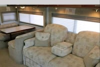 brown wooden framed gray padded sofa set Chino Valley, 86323