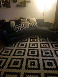 black and white fabric sofa Dallas, 75244