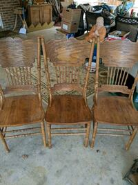 Three wooden chairs $20 Rutherfordton, 28139