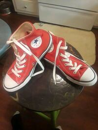 pair of red Converse All Star high-top sneakers Lubbock, 79424