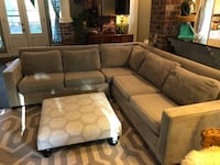 West Elm Sectional and ottoman Jackson, 70748