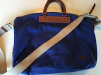 Dooney and Bourke Canvas Crossbody Duffle in Royal Blue Oakland