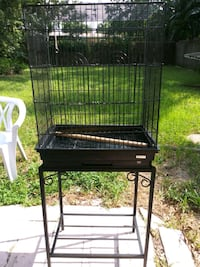 bird cage with stand