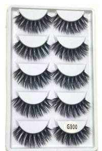 3D Mink Eyelashes Natural Long 1to 1.5 cm Full strip lashes 5 Pairs set Toronto, M9W 1E3