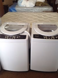 white top-load clothes washer and dryer set Orlando, 32805