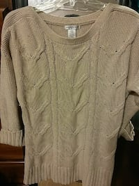 HANNAH size medium tan knit sweater Waynesboro, 17268