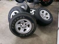 (5) Wrangler Wheels w/ old tires Palmdale, 93550