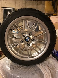 STAGGERED BMW RIMS Front 245 45 R17 and 240 40 R17 Milton