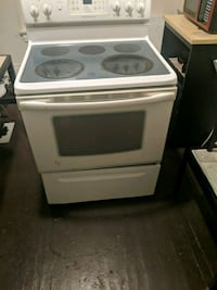 white and black induction range oven Rochester, 14642
