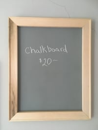 Rustic, shabby chic, handmade chalkboard in soft grey & natural wood!  Edmonton, T5M