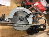 "Ridgid R321047-1/4"" thrucool 15 amp worm drive saw . Used.  Baltimore, 21205"