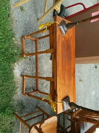 brown wooden framed glass top table Knoxville