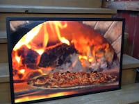 "Black Framed Plexiglass Pizza Oven Wall Art - 21 x 31"" Chicago, 60622"