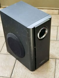 black and gray subwoofer speaker Lexington, 02421