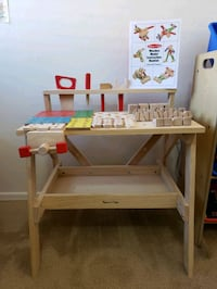 Kids Wooden Play Construction Table with Tools and Fairfax, 22031