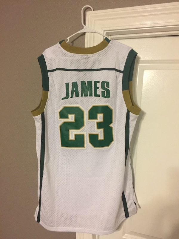 release date: c4b34 2a663 Brand New Lebron JAMES High School Authentic Jersey Size XXXL Everything  Stitched on