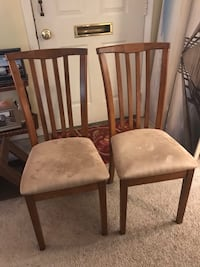Padded wood chairs Warminster