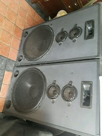black and gray subwoofer speaker 2054 mi