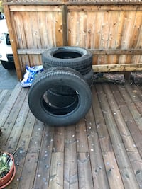 black vehicle wheel and tire set Newmarket, L3Y 1K4