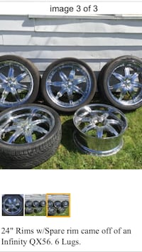 """24"""" Chrome wheel with extra spare Chicago, 60666"""