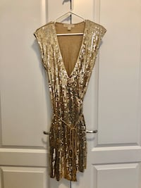 Michael Kors Gold Sequins Dress Vaughan
