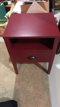 brown wooden single-drawer end table Edmonton, T5Y 3R8