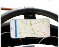 Car Mount, Costech Steering Wheel Stand GPS Rubber Band Holder for Iphone 6,6s,6plus,5s ,Samsung Galaxy S6,S5,Note 5,4,3,Other Not More than 5.5 Inch Moblie Phone (Black) Alexandria, 22303