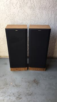 two brown and black speakers Antioch, 94509
