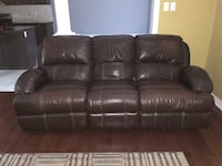 Electric Chocolate Leather Recliner  Richmond Hill