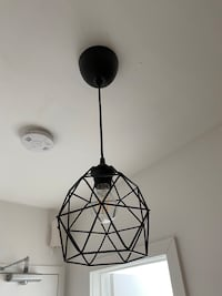 2 BRUNSTA Pendant lamp, black