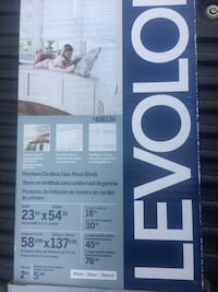 Premium cordless faux wood blind in box new size 23in x 54in   30$ new in box Lynn, 01905