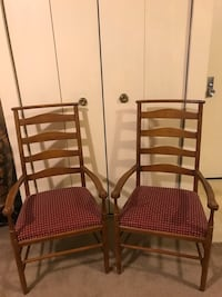 2 solid oak wood armchairs in excellent condition smoke pet free home check out my other listings on this page interested pm me in Gaithersburg md 20877 Gaithersburg, 20877