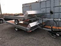 2019 double snowmobile trailer hauler galvanized tilt Caledon East, L7C 1G6