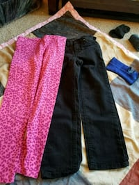 Jeans size 6x -7  and pink spandex girls  Abbotsford, V2S 1K8