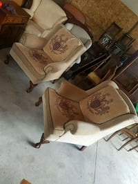 Pair of wingback chairs and footstool  Brampton, L6X